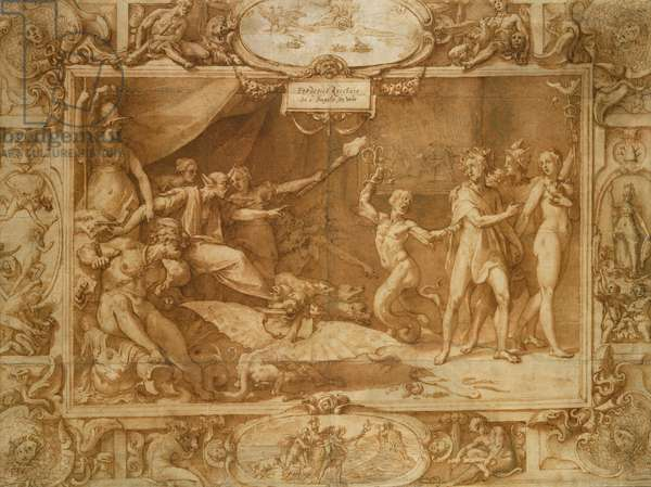 The Calumny of Apelles, 1572 (pen & brown ink & wash on paper)