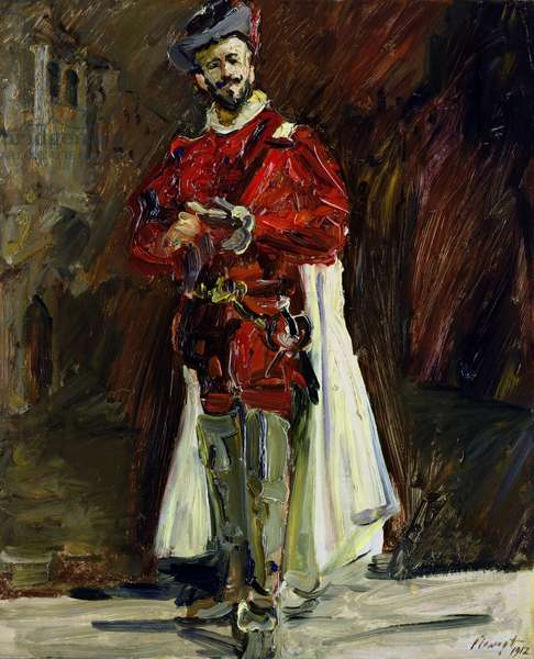 Francisco D'Andrade (1859-1921) as Don Giovanni, 1912 (oil on panel)