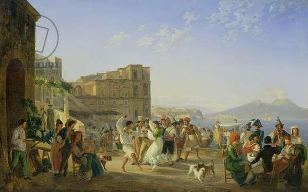 Italian Dancing, Naples, 1836 (oil on canvas)