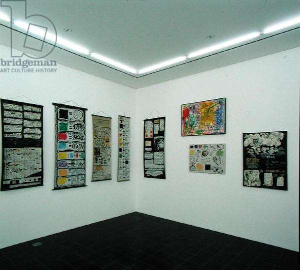 View into exhibition room with works by Arthur Kopcke (1928-77) (photo)