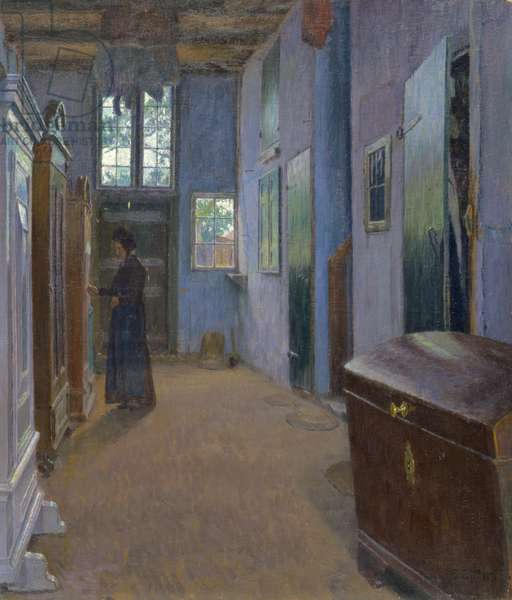 Hall in a House in Lubeck, 1893 (oil on canvas)