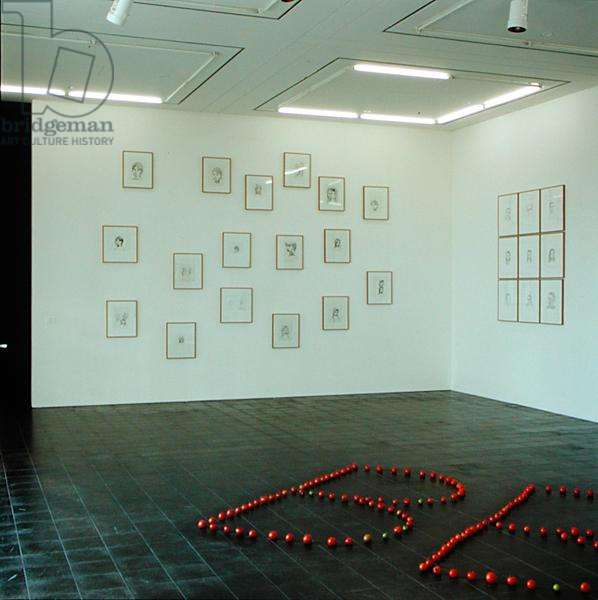 Gallery exhibiting works by Rosemarie Trockel (b.1952) (photo) (see also 182397)