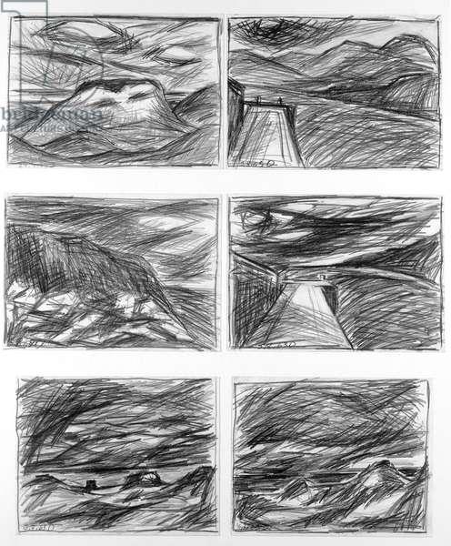 Landscapes, 1963 (pencil on paper)