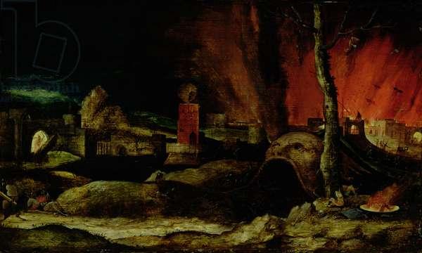Christ in Limbo (oil on panel)