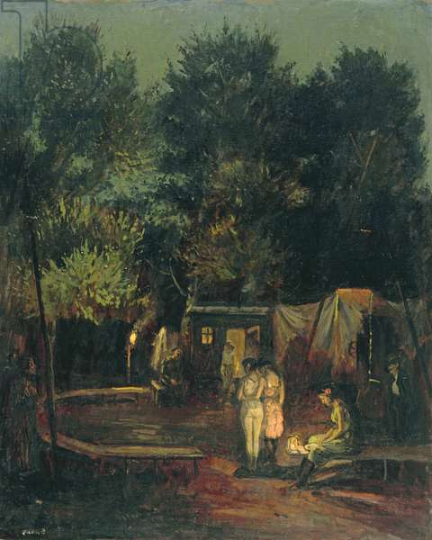 Circus under Trees, 1912 (oil on canvas)