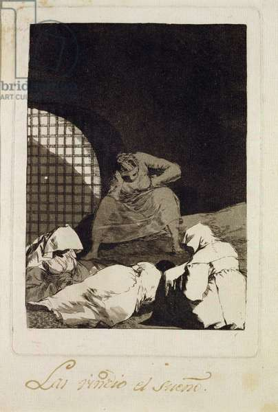 Sleep overcomes them, plater 34 of 'Los caprichos', 1799 (etching)