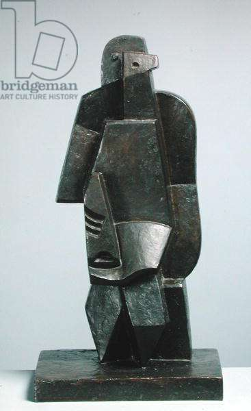 Seated Man with a Clarinet II, 1919 (bronze)