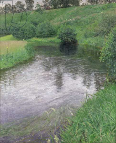 The Alster Valley near Wellingsbuttel, 1894 (oil on canvas)