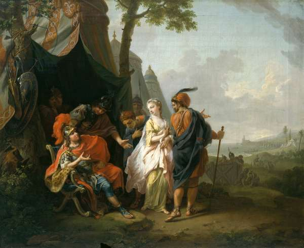 The Abduction of Briseis from the Tent of Achilles, 1773 (oil on canvas)
