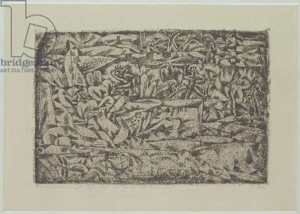 The Garden of Passion, 1913 (no 155) (etching on zinc)
