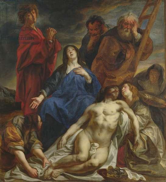 The Lamentation, c.1650 (oil on panel)
