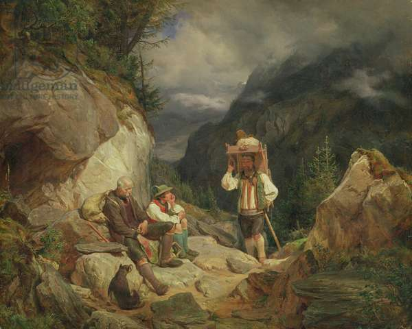 Rest on the Mountain, 1848 (oil on canvas)