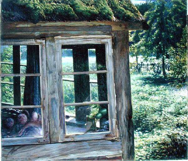 Summer House in the Country, 1908 (oil on canvas)