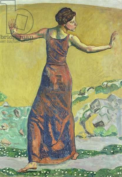 Femme Joyeuse (oil on canvas) (see also 155108)