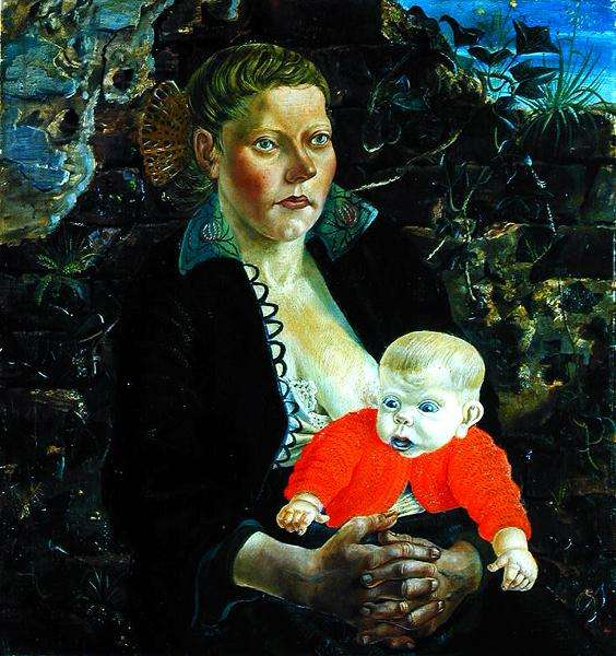 Mother and Child, 1924 (oil on canvas)