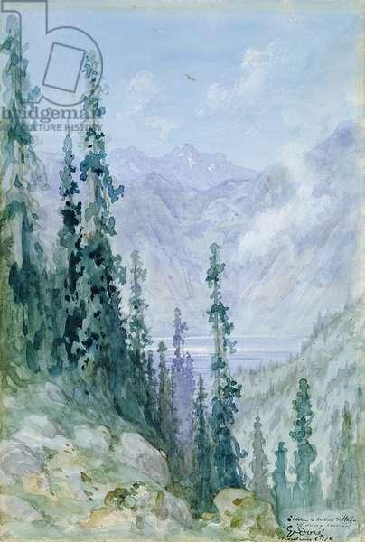 Mountainous landscape, 1876 (w/c on paper)