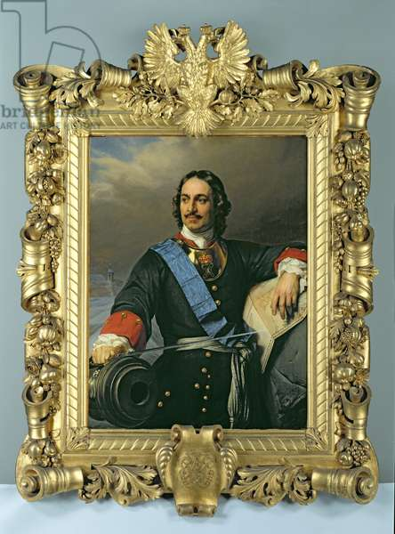 Peter I the Great (1672-1725) 1838 (oil on canvas) (see also 144529)