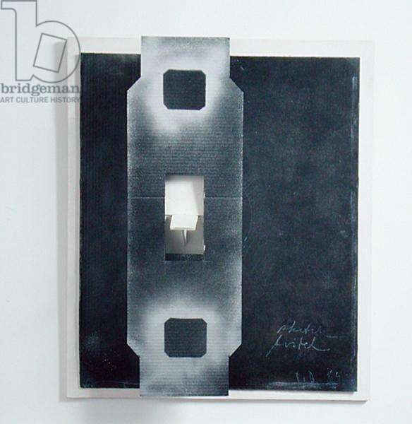 Light Switch, 1964 (spray paint on carton)