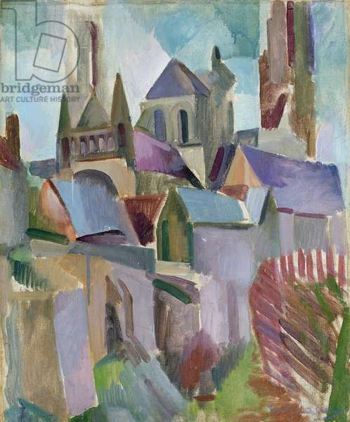 Towers of Laon, 1912 (oil on canvas)