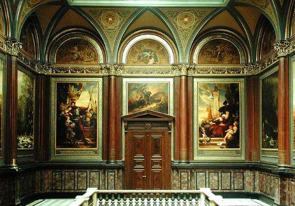 View of a gallery at the Kunsthalle (see also 183252-257, 183259-262) (photo)
