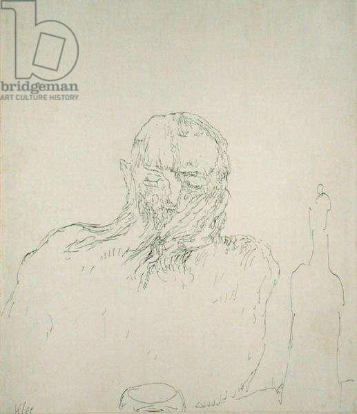 The Drinker, 1909 (no 35) (pen on paper on cardboard)