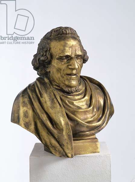 Portrait of Moses Mendelssohn (1729-86), 1785 (bronze)