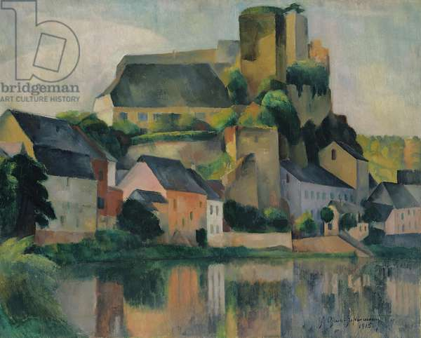Runkel on the Lahn, 1915 (oil on canvas)
