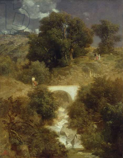 Roman Landscape with a Bridge, 1863 (oil on canvas)