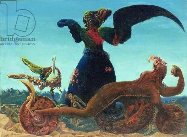 The triumph of love or false allegory (Le triomphe de l'amour / fausse allegorie), 1937 (oil on canvas)