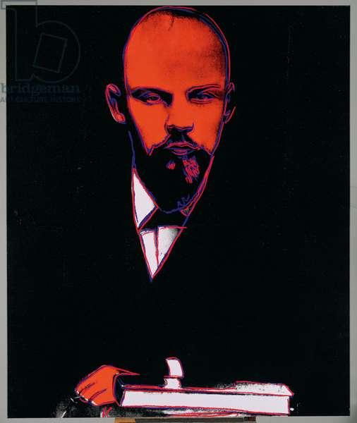 Lenin (1870-1924), 1986 (acrylic & screenprint on canvas)