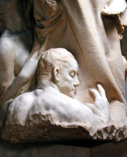 Detail of Dedication to Brahms (marble) (see also 155042-48)