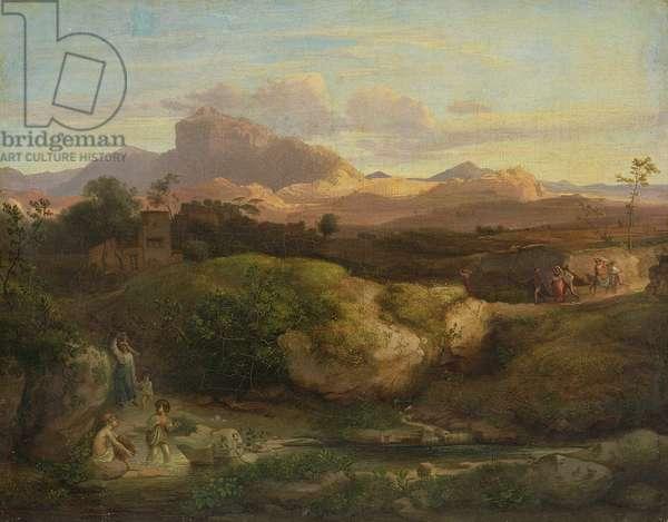 Roman Landscape (oil on canvas)
