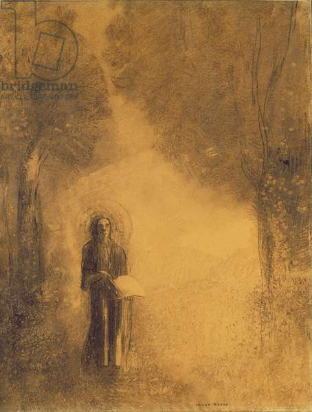The Walker, Study for 'The walking Buddha'), 1890-95 (charcoal on paper)