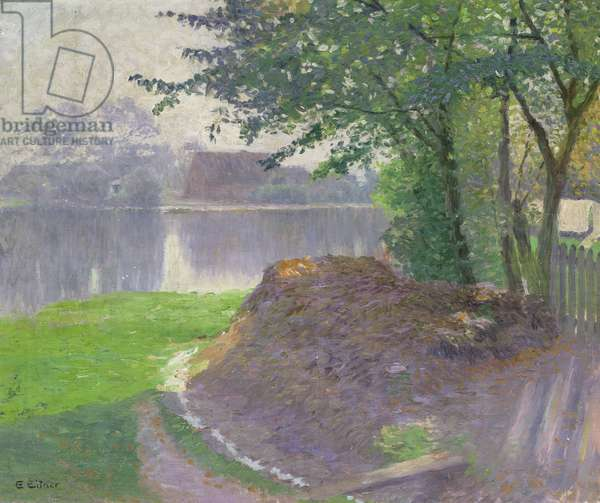 Fog on the Alster, 1894 (oil on canvas)