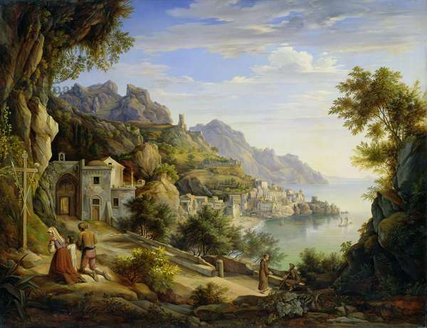 At the Gulf of Salerno, 1826 (oil on canvas)