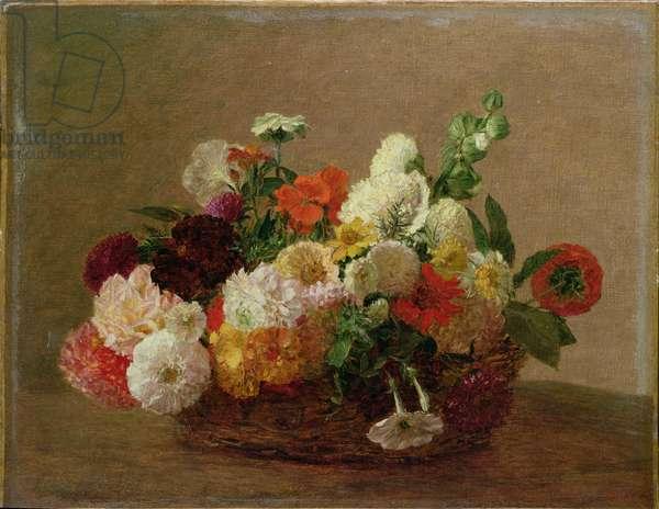 Flower Still Life (oil on canvas)