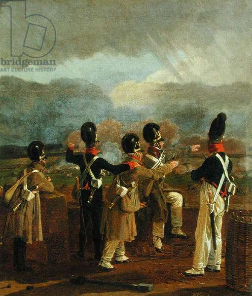 Soldiers on the Ramparts, c.1809 (oil on canvas)