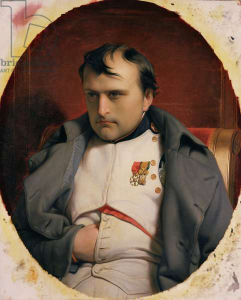 Napoleon (1769-1821) in Fontainebleau, 1846 (oil on canvas)