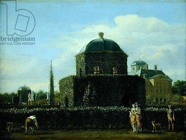 The Pavilion of the Bosch House, the Residence of the Keeper of the City of Gravenhage (oil on panel)