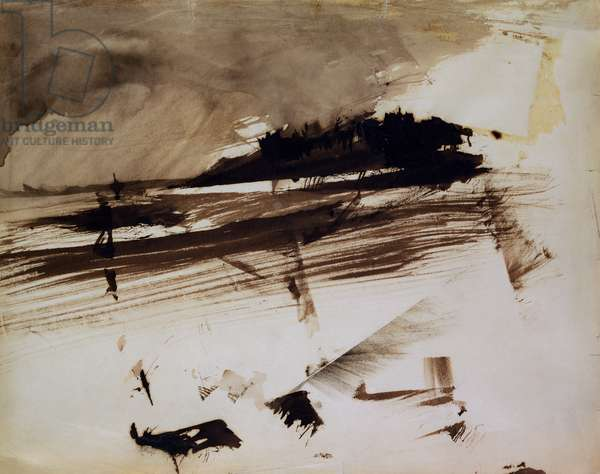 Untitled, or: Evocation of an island, 1870 (ink and wash on paper)