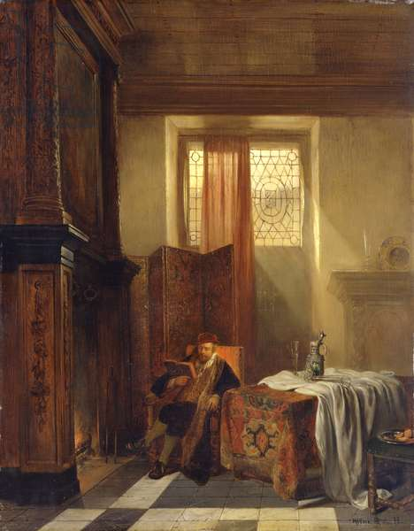 The Philosopher, 1844 (oil on panel)
