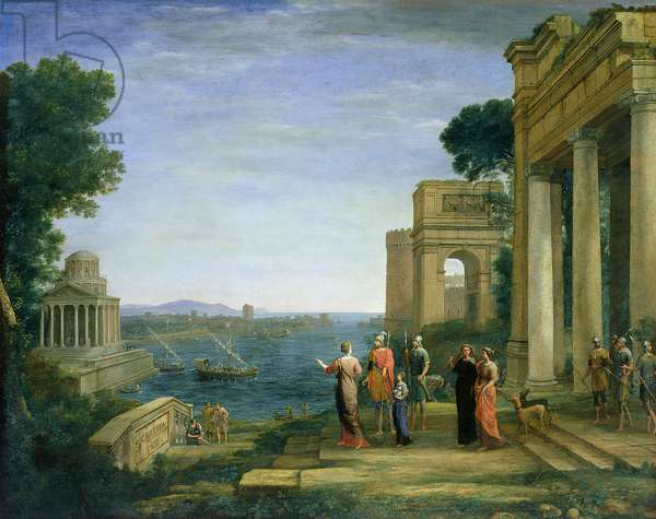 Aeneas and Dido in Carthage, 1675 (oil on canvas)