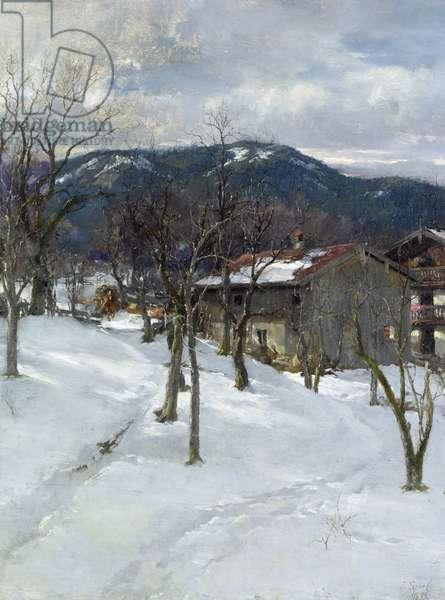 Winter landscape near Kutterling, 1899 (oil on canvas)