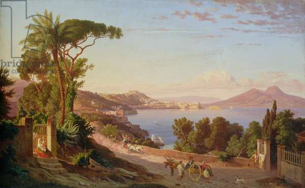 View of Naples (oil on canvas)
