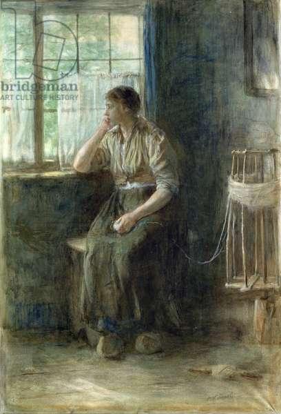 Woman at the Window (w/c on cardboard)