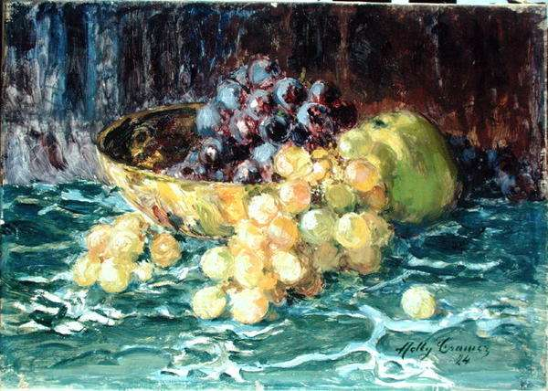 Still Life with Grapes, 1924 (oil on canvas)