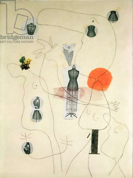 Metamorphosis, 1936 (pencil and watercolour on paper with collage)