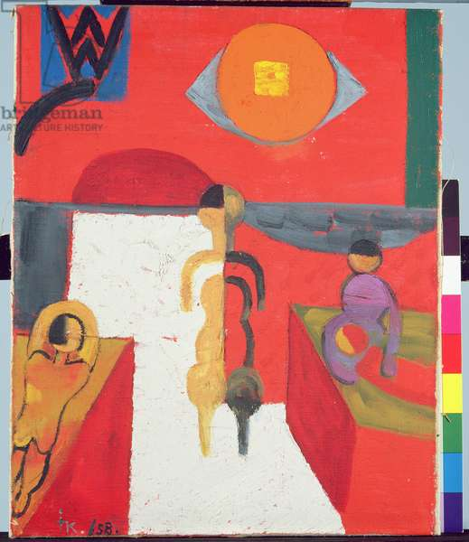 Figurative Composition with Sun, 1958 (oil on canvas)