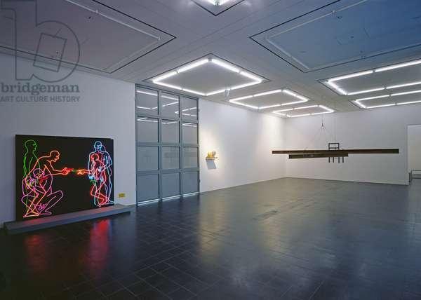 Gallery exhibiting works by Bruce Nauman (b.1941) (photo)