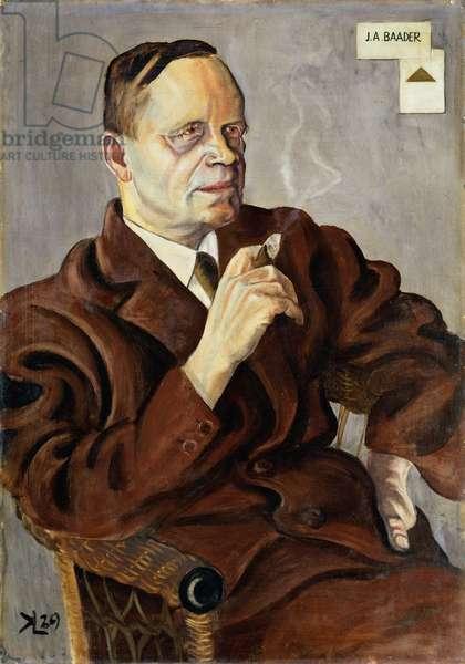 Johannes A. Baader (1876-1955) 1929 (oil on wood)